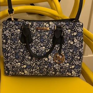 Michael Kors Blue Floral Print Purse